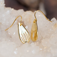 Gold Lotus Drop Earrings