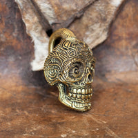 Brass Mexican Skull Ear Weights