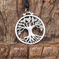 Tree of Life White Brass Pendant
