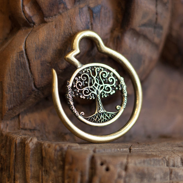 Tree of Life Brass gauge Hoop