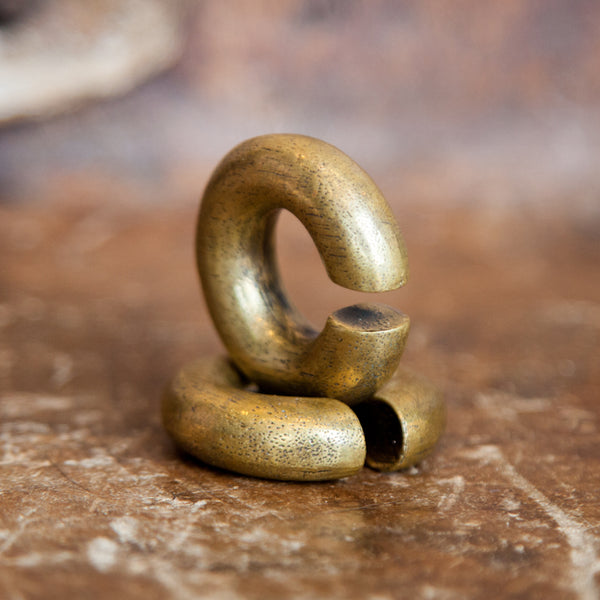 Large Brass Ear Weight