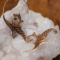 Large Intricate Copper Spiral Earrings