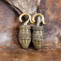 Tribal Brass Ear Weight