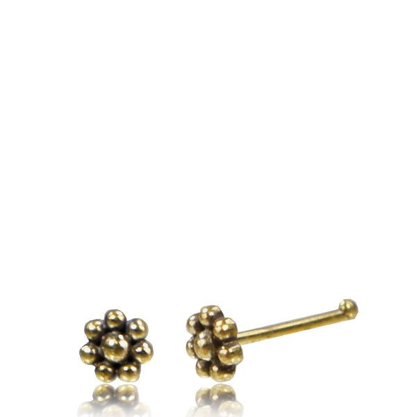 Flower Brass Nose Pin
