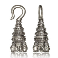 Angkor White Brass Ear Weights
