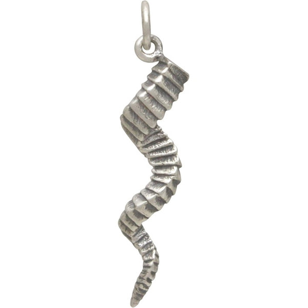 Twisted horn Silver Pendant