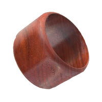 Flared Red Wood Bangle
