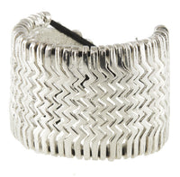 Aztec Silver Coated Brass Bracelet