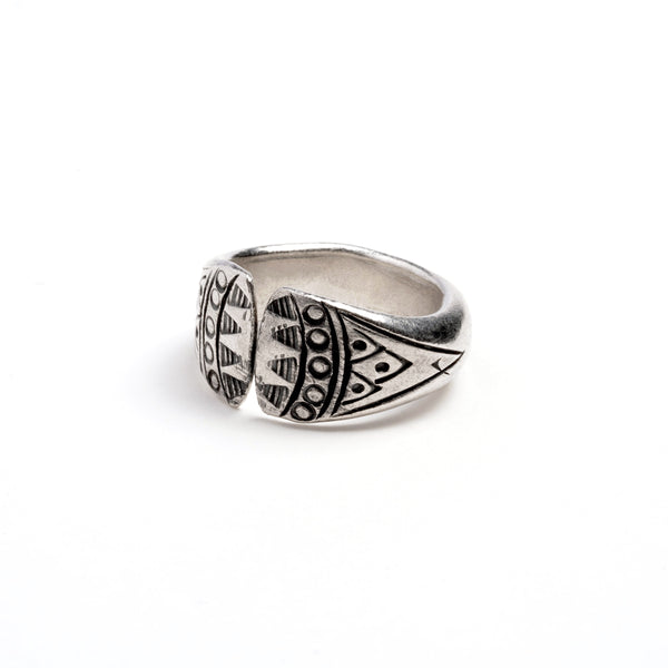 Bear Hug Silver Ring