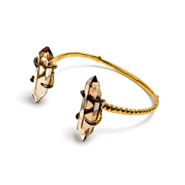 Bird Claw Large Crystal Cuff | Tribu Jewellery London