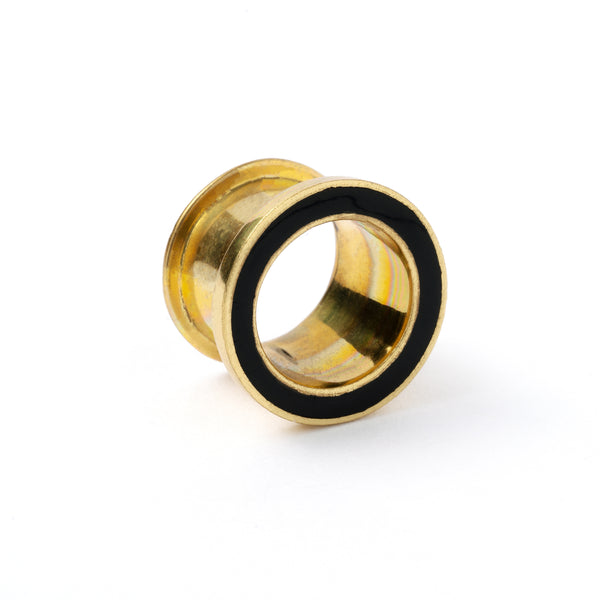 Black Resin Brass Plug