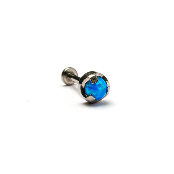 Blue Opal threadless Tragus