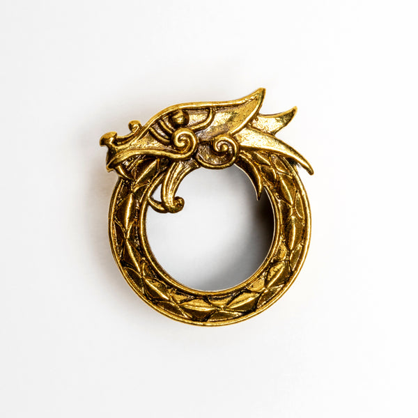 Brass Dragon flesh tunnel / Ear Gauges / Ear Stretchers / Plug Earrings / Plugs / Tunnels / Plug Tunnels / Ear Tunnels / Screw Plugs / Brass Plug Tunnels / Brass Gauges / Brass Plugs / Brass Tunnels / Gauge Jewellery