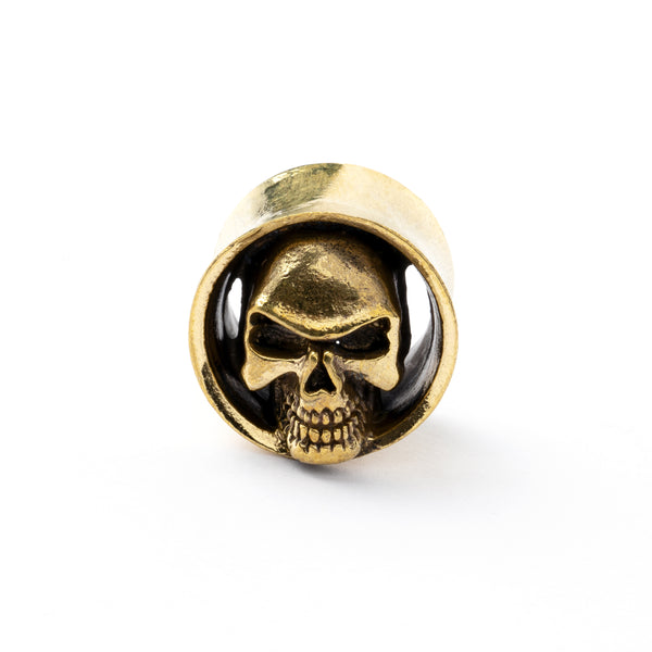 Brass Skull Ear Plug