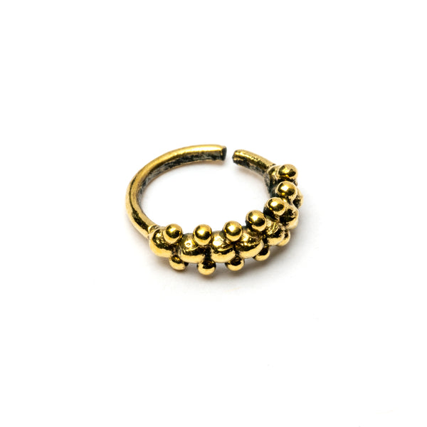 Double Dotted Brass Nose Ring