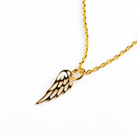 Bronze Filigree Wing Necklace