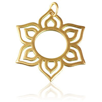 Gold Plated Silver Lotus Petals Pendant - Tribu