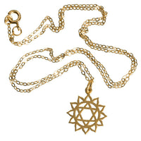 24K Gold Plated Heart Chakra Charm Pendant - Tribu  - 2