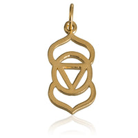 24K Gold Plated Third Eye Chakra Charm Pendant - Tribu  - 2