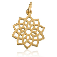 Crown Chakra 24K Gold Plated Charm Pendant - Tribu  - 1