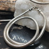 Chunky Antique Silver Snake Necklace
