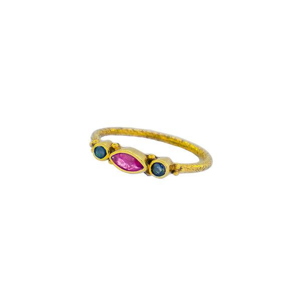 Ruby and Sapphire Gold Ring