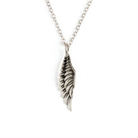 White Bronze Wing Necklace