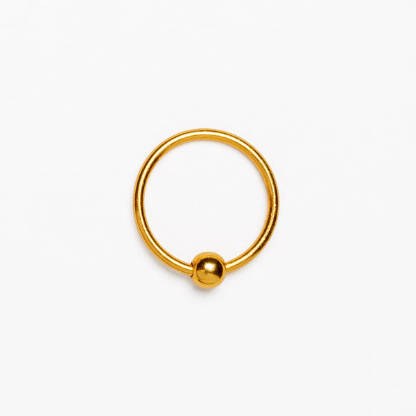Dhevan 18K Circular Gold Body Piercings Belly/Tragus/Lip |Tribu London