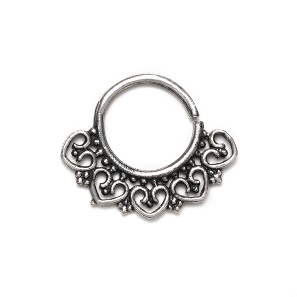 Ditya Silver Septum Ring | Tribu Nose Ring London