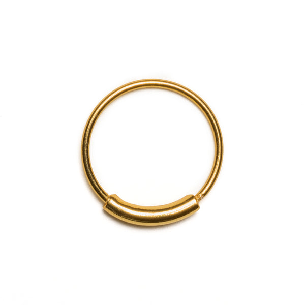 Double Layer Gold Plated Nose Earring | Tribu Septum Jewellery