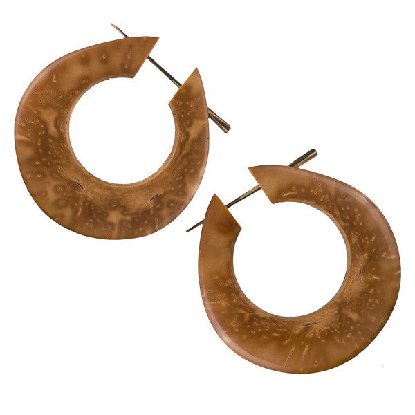 Pia Wood Earrings - Tribu