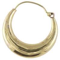 Brass Indian Hoop Earrings - Tribu  - 2