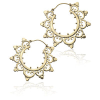 Bali Brass Hoop Earrings - Tribu  - 1