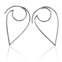 Petal Frame Silver Hook Earrings - Tribu  - 1