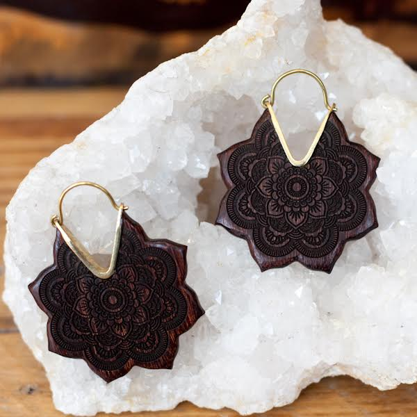 Black Lotus Earrings
