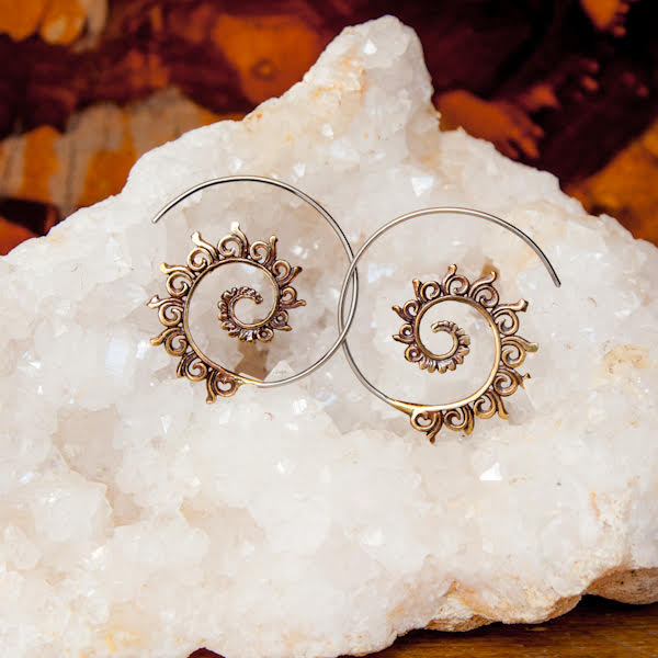 Traditional Copper Spiral Earrings