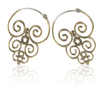 Sulawesi Swirling Brass Earrings