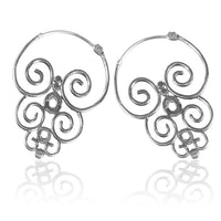 Sulawesi Swirling Brass Earrings - Tribu  - 2
