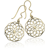Star Of Life Brass Earrings - Tribu  - 1