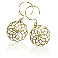 Star Of Life Brass Earrings