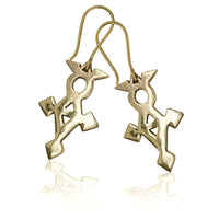Tuareg Symbol Brass Earrings