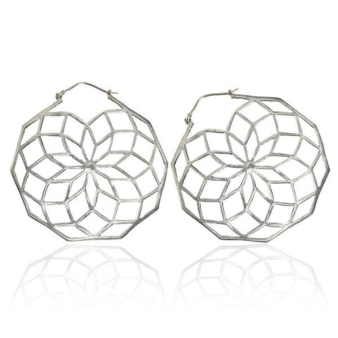 925 Star of Life Silver hoops earrings - Tribu
