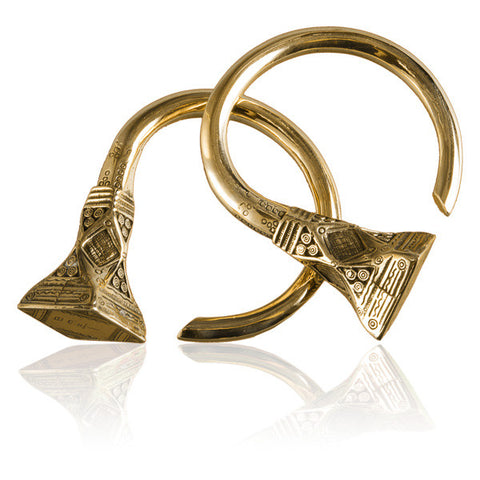 Mali Brass Ear Weights - Tribu  - 1