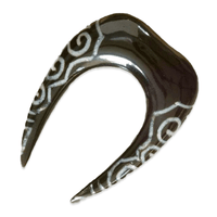 Ear Stretcher with Spiralling Bone Inlays