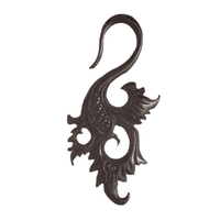 Ethnic Swan Solid Horn Hook