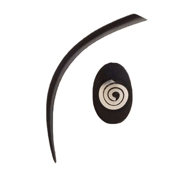 Extra Long Wooden Expander with a Silver Spiral