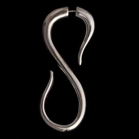 Silver S Shaped Split Tribal Hook - Tribu