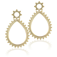 Tear Drop Brass Flesh Tunnel Earrings - Tribu  - 3