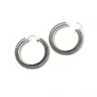 Fascinating Silver Hoops