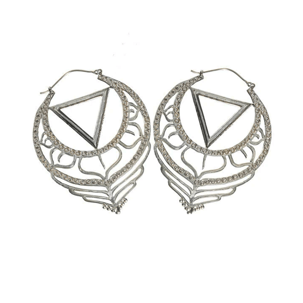 Silver Fire & Purity Earrings